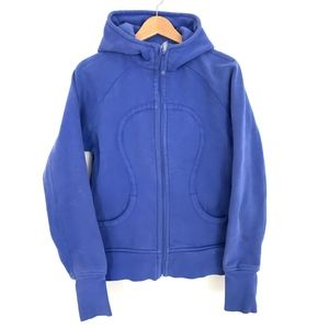 Lululemon Blue Scuba Hoodie Zip Up Women Sz 12